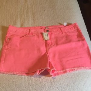 Girls Justice Bright Pink Shorts 20 Plus
